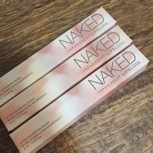 3 Urban decay naked unused lip glosses